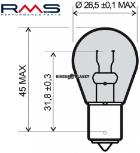 RMS 246510195 P21W BA15S 12V 21W