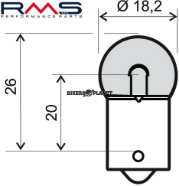 RMS 246510225 R5W BA15S 12V 5W